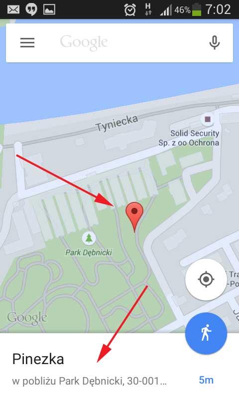 geolokalizacja i kopiowanie linku do miejsca na mapie google (2)
