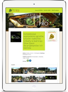 Przykład prezentacji darczyńcy - Garden Pro w Krakowie