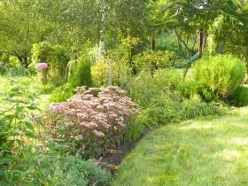 Ogród romantyczny przy ekopensjonacie 'Siedlisko Orlik'