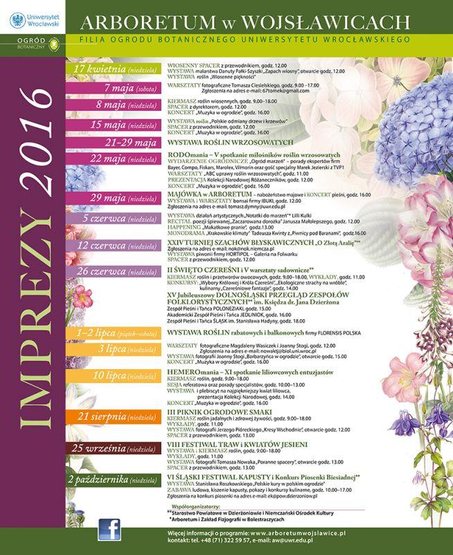 Kalendarz imprez 2016 GALERIA +BANNER+ plastik 110x90
