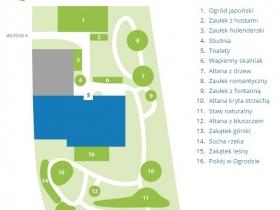 Kapias - Ogrody do zwiedzania - plan stare ogrody