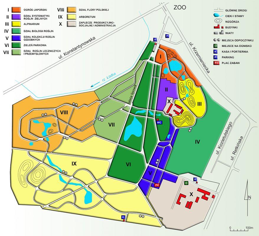 Ogrodowa Mapa Polski łódzki Ogród Botaniczny Ogrodowa